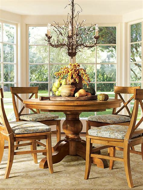 centerpiece for round dining table a round dining table with a bountiful centerpiece