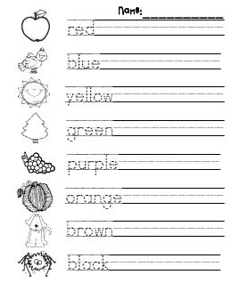 color practice pdf keep them busy reading and writing pinterest kindergarten school and