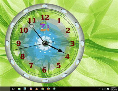 Animated Clock Wallpaper - 3 free software to show clock wallpaper in windows