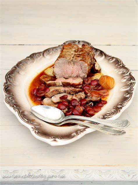 cuisiner roti de veau rôti de veau aux cerises cuisine de tous les jours