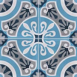 lot de 4 carreaux de ciment cercle bleu l40 x l40 cm With carreaux de ciment bleu