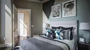 Decoration Chambre Taupe Et Bleu Visuel 7