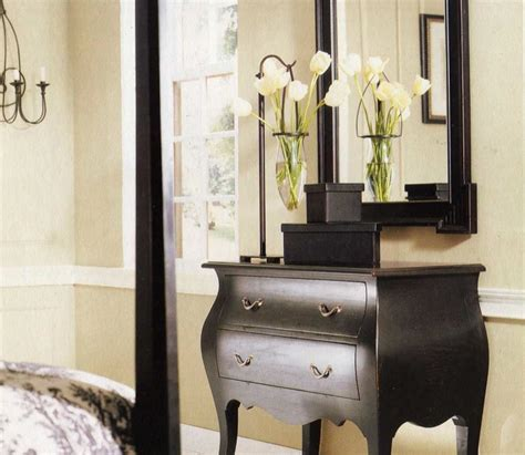 black bombay chest transitional bedroom