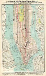 New Map Of New York City  From The Latest Surveys Showing