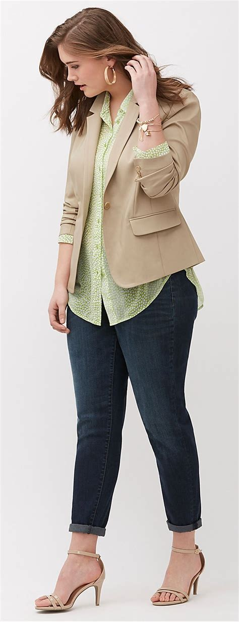 Plus Size Modern Blazer   Plus Size Fashion   Pinterest   Tapered jeans Blazers and Casual ...