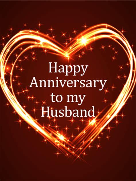 glittering heart happy anniversary card birthday
