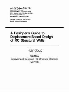 A Designer U0026 39 S Guide To Displacement Based Design Of Rc