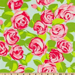Amy Butler Love Tumble Roses Pink - Discount Designer