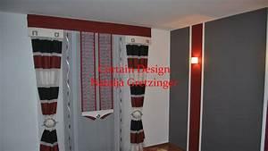 Vorhänge Rot Weiß : schlafzimmer vorhang mit roter schabracke und seitenschal gardinen deko ~ Orissabook.com Haus und Dekorationen