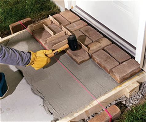 building a mortared brick walk sand set mortared