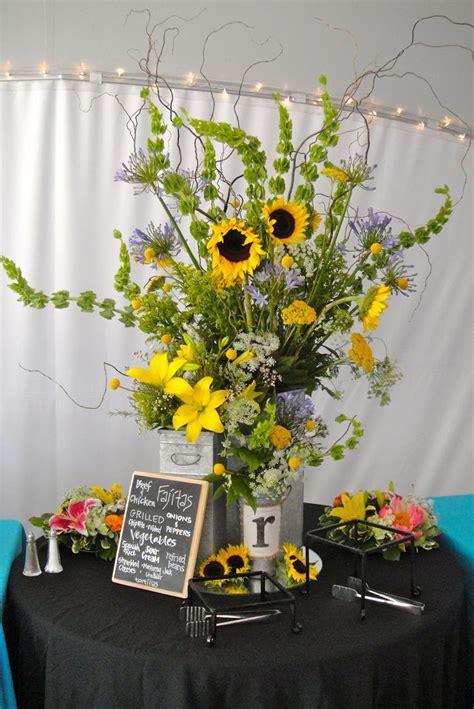 sunflower arrangement designs sunflower floral arrangement hacienda del lago wedding ideas pinterest