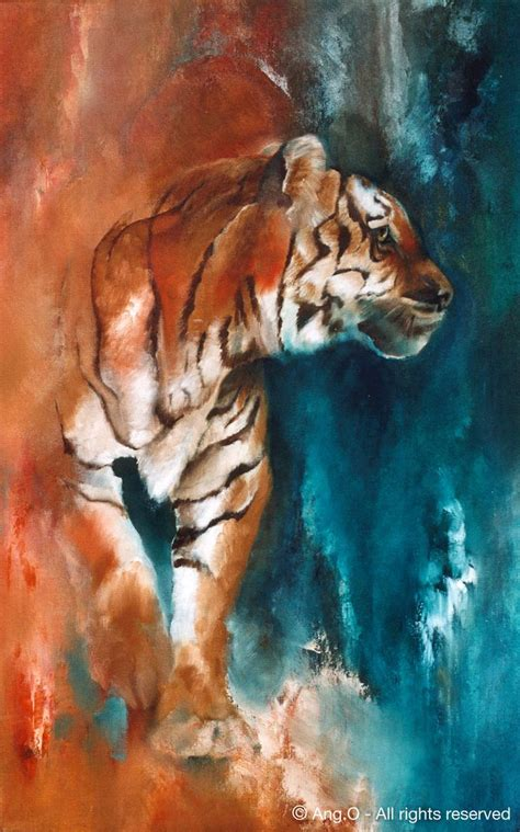 angry tiger watercolour painting amazing drawing art