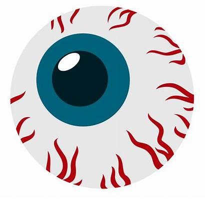 Cartoon Scary Eye Ball Cliparts Eyes Clipart