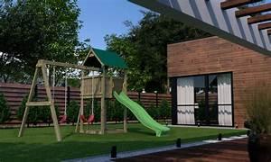 Cabane Toboggan Pas Cher : portique bois avec maisonnette les cabanes de jardin ~ Dailycaller-alerts.com Idées de Décoration