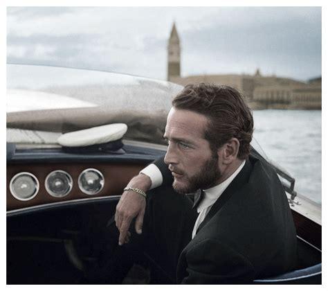paul newman venice boat paul newman in venice 1963 color photography