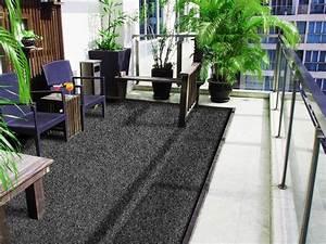 Balkonteppich anthrazit farbwunder floordirektde for Balkon teppich mit tapeten hellweg