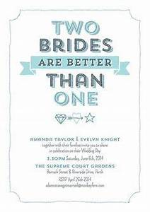 lesbian wedding invitation google search ideas for the With gay wedding invitations online