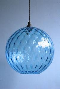 Blue Light Sessions Aqua Blue Glass Globe Pendant Agapanthus Interiors