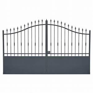Portail Battant 5 Metres : portail cloture fer et portail fer avec portail coulissant et portail battant portail en fer ~ Nature-et-papiers.com Idées de Décoration