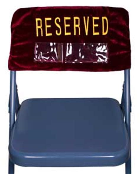 reserved embroidered velvet folding chair cover