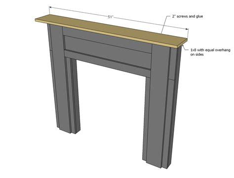 faux mantle woodworking plans woodshop plans