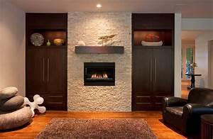 Interior. Interior Accent Ideas Using Brick Fireplace ...