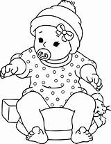 Coloring Dolls Doll Printable Popular sketch template