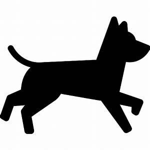 Dog Running - Free animals icons