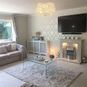 Gold Glitter Wallpaper Living Room Ideas