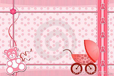 baby shower greeting card royalty  stock images