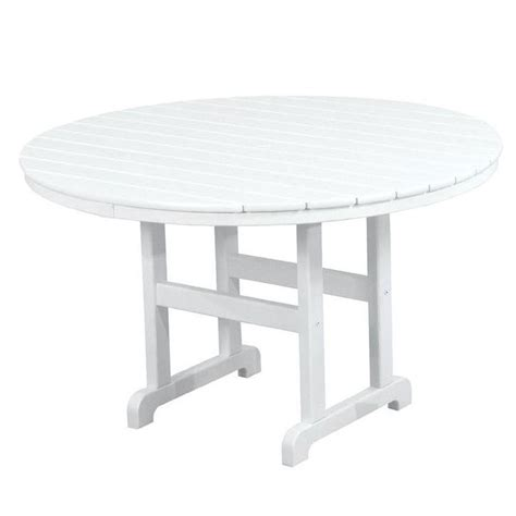white round outdoor table polywood la casa cafe 48 in white round patio dining