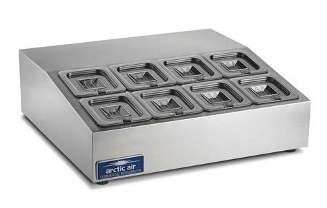 arctic air acpsq  refrigerated compact  pan counter top prep unit