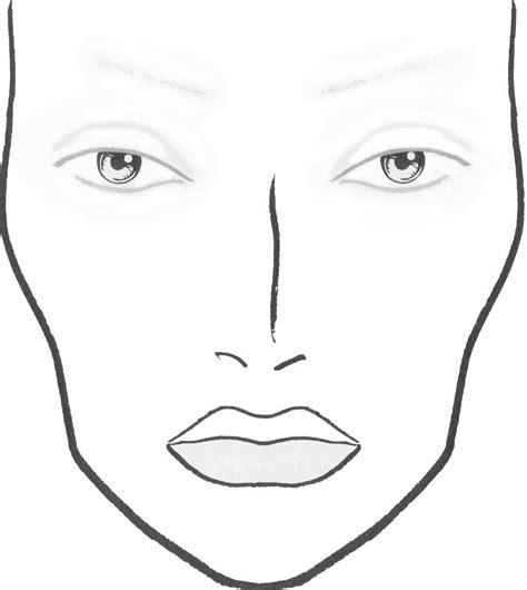 dolls diy blank makeup face charts