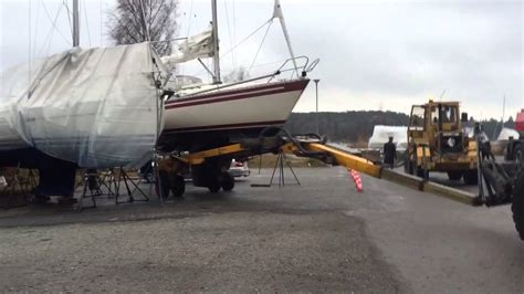 Boat Trailer Youtube by Roodberg Hydralic Boat Trailer Youtube