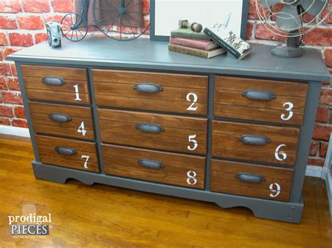 dresser vintage dresser features industrial vibe prodigal pieces Industrial