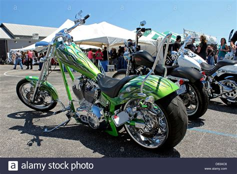 Harley Davidson Myrtle by A Lime Green Harley Davidson Chopper At Myrtle Bike