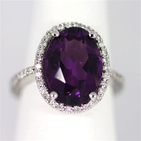 oval amethyst  diamond ring ferdinand jewelers