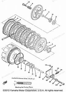 Yamaha Motorcycle 1971 Oem Parts Diagram For Clutch