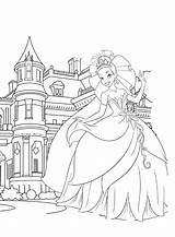 Castle Coloring Pages Princess Disney Tiana Printable Castles Dragon Frozen Cinderella Print Colorings Nice Getdrawings Colouring Getcolorings Sheets Showing Drawing sketch template