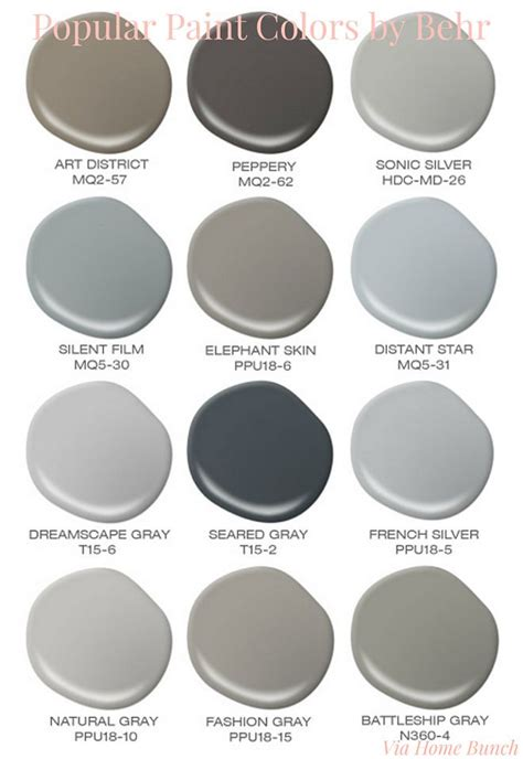 popular behr paint colors behr best sellers behr district behr peppery behr sonic silver