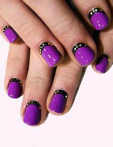 Purple and black nail art trendy mods