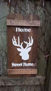 Home Sweet Home DEER Buck Head Hunter Cabin Hunting