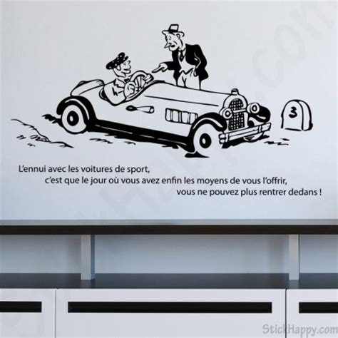 bureau citation stickers déco autocollante humour voiture de sport