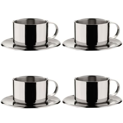 3038 espresso coffee cup set miu stainless steel espresso cup set of 4