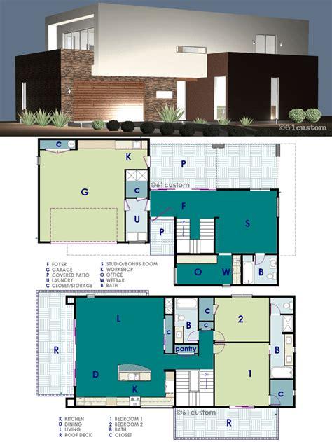 ultra modern  work house plan custom