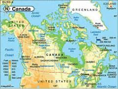 Canada Physical Map Canada physical map  Canada Physical Map