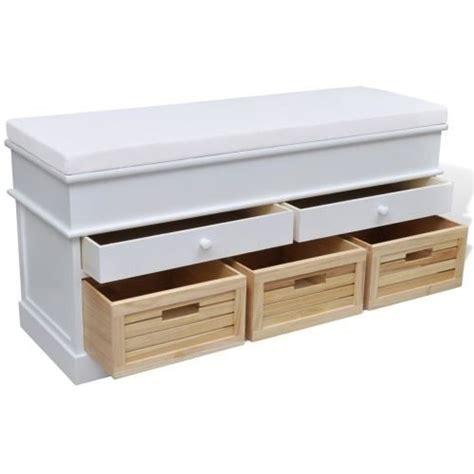 banquette bout de lit banquette banc bout de lit avec rangement achat vente banc blanc soldes d 232 s le 10 janvier