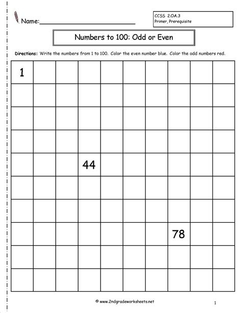 even and numbers worksheets