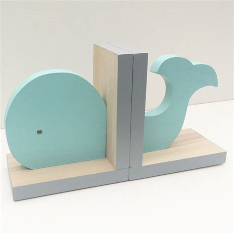 white and gray boy nursery with blue aqua whale bookends nautical room decor nautical by