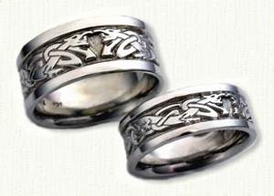custom dragon wedding rings by designet With dragon wedding rings
